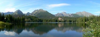 Strbske Pleso. Panorma in Strsbke Pleso, High Tatra, Slovakia Stock Image