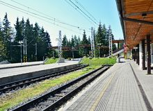 Strbske pleso railway station Stock Photography