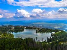 Strbske Pleso sjö Royaltyfri Fotografi