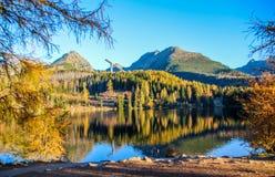 Strbske Pleso Strbske sjö i den höga Tatras nationalparken, norr Slovakien arkivfoton