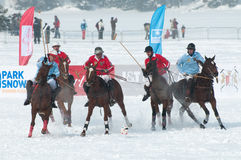 STRBSKE PLESO, SLOVAKIA - FEBRUARY 7: Polo on snow Royalty Free Stock Photos