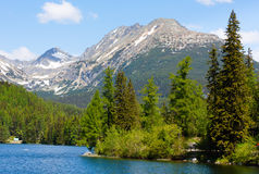 Strbske Pleso (Slovakia) spring view. Royalty Free Stock Photo