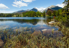 Strbske Pleso (Slovakia) spring view. Stock Photos