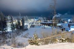 Strbskie παρακαλώ τή νύχτα, Σλοβακία Στοκ Εικόνες
