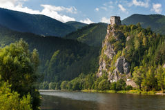 StreÄ 没有城堡, Å ½ ilina 免版税图库摄影