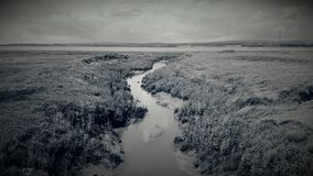 A stream leading to the river Severn Royalty Free Stock Image