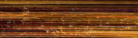 Streak Cily Lights Stock Image