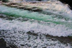 Streak Wave. A streak wave after a boat has gone bye stock photos