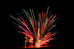 Streaking firework Royalty Free Stock Image
