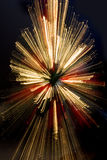 Streaks with christmas Stock Photography