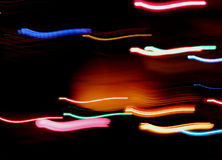 Streaks of colorful light Stock Images
