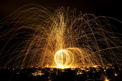 Streaks of fire. Stock Image