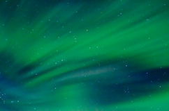 Streaks of Green Auroras Royalty Free Stock Photography