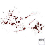 Streaks of red liquid on a white background. Blood spray Royalty Free Stock Photography