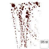 Streaks of red liquid on a white background. Blood spray Royalty Free Stock Images