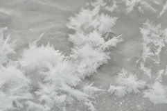 Streaks of snow. Snowflakes on the ice. Winter Royalty Free Stock Photo
