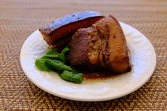 Streaky βρασμένη χοιρινό κρέας σάλτσα σόγιας χοιρινού κρέατος Tong ήχων καμπάνας Στοκ Εικόνες