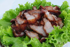 Streaky pork , Fried pork belly Royalty Free Stock Photography