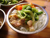 Chinese food Shahe fen rice noodle Royalty Free Stock Images