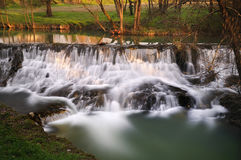 Stream. Long exposure waterfall in French Royalty Free Stock Images
