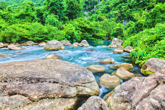 Stream. Blue water stream. Phong Nha - Ke Bang National Park. Vietnam Royalty Free Stock Images