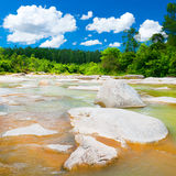 Stream. Scenic view of beautiful stream at sunny day Stock Images