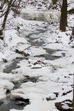 Stream. In winter with snow Royalty Free Stock Photo