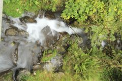 Stream in the Alps stock photo