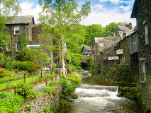 Stream in Ambleside in the English Lake District Stock Photo