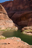 Stream in Back Canyons  at Lake Powell Royalty Free Stock Image