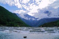 The stream beneath Jade Dragon Snow Mountain stock image