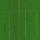 Stream of binary code. EPS 10 seamless green background Stock Photography