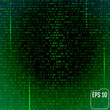 Stream of binary code on screen. Abstract vector background. Dat. A and technology, decryption and encryption, computer matrix illustration stock illustration