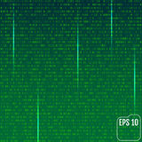 Stream of binary code on screen. Abstract vector background. Dat Royalty Free Stock Photo