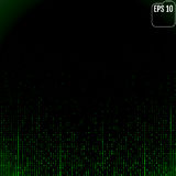 Stream of binary code on screen. Abstract vector background. Dat Royalty Free Stock Image