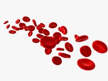 Stream of blood cells Royalty Free Stock Photos