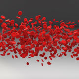 Stream of blood cells Stock Images