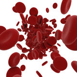 Stream of blood cells Royalty Free Stock Images