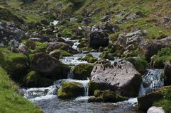 Stream in the Brecon Beacons. On the way to Llyn y Fan Fach Royalty Free Stock Images