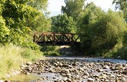Stream and bridge Royalty Free Stock Photo