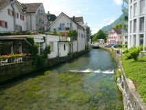 A stream in Brunnen Stock Photography