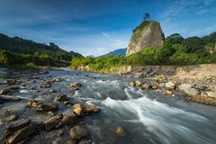 The Stream. At Bukit Takuruang, Bukittinggi, West Sumatera Stock Photos