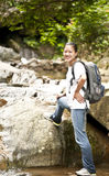 Stream climbing Stock Photo