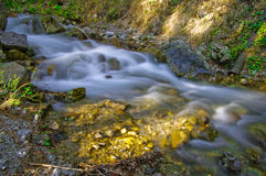 Stream in countryside. Slow motion blur of stream flowing in countryside Stock Photography