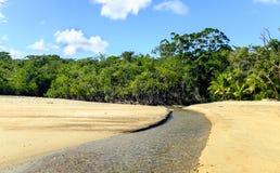 Stream on Cow Bay Beach Stock Photo