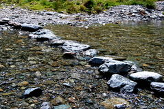 Stream crossing. A stream crossing out of stones Royalty Free Stock Photo