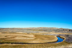 Stream Curving through Yellowstone Royalty Free Stock Images
