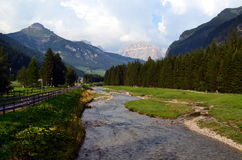 Stream that descends from the mountains Royalty Free Stock Photography