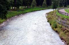 Stream that descends from the mountains Royalty Free Stock Image