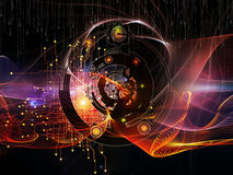 Stream of Digital Processing Stock Photo